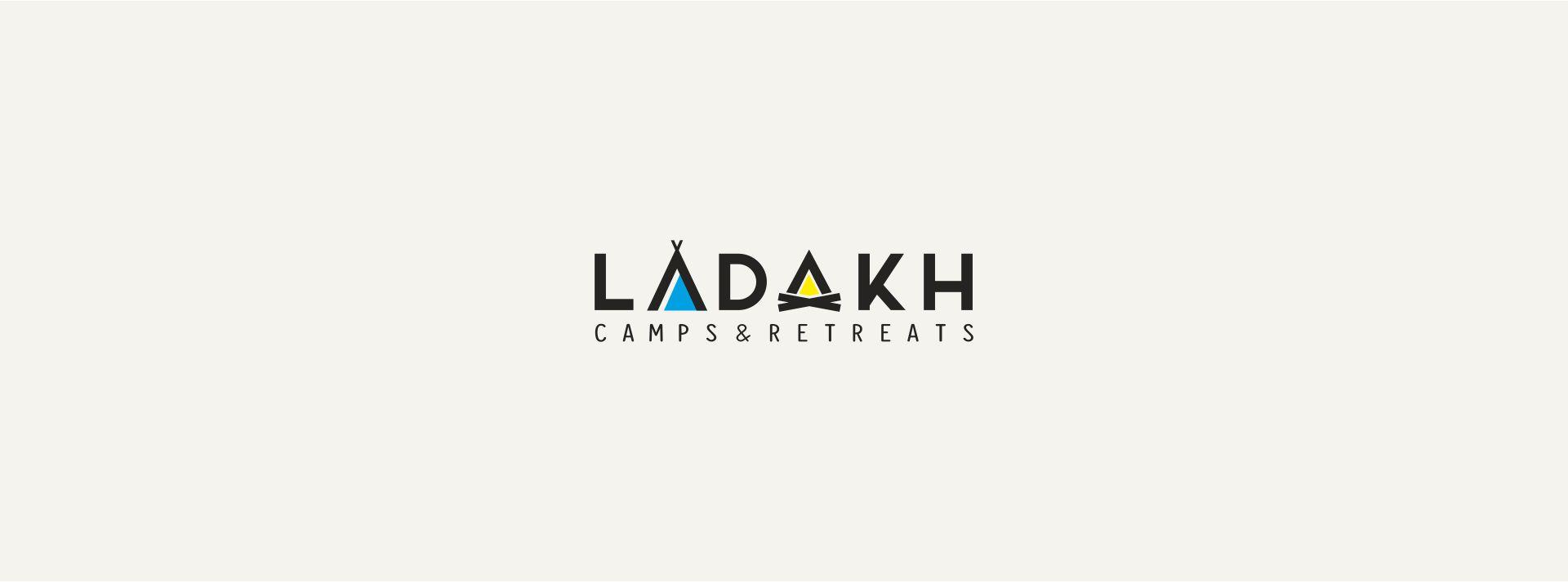 logo design for ladakh camps, ladakh